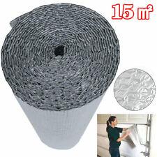 82FT Silver Foil Insulation Air Bubble Heat Warm Double Aluminum Roll Loft Shed