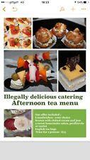 The Afternoon tea menu