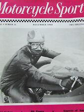 MOTORCYCLE SPORT DEC 1968 SUZUKI COBRA BS FOURS AMERICA ROAD RACING TECH COMMENT
