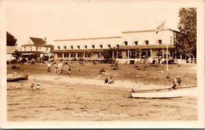 Real Photo Postcard The Northwest Hotel in Beulah, Michigan~134329