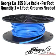George L's .155 BLUE Pedalboard Patch Effects Cable BY THE FOOT Cord Guitar NEW