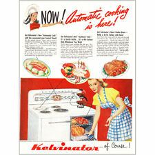 1948 Kelvinator Oven: Automatic Cooking is Here Vintage Print Ad