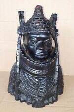 afrikanische Holzschnitzerei Figur Krieger in Rüstung Büste Skulptur Holz Afrika