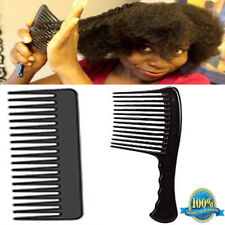 WIDE TOOTH DETANGLE COMB HAIRDRESSING/STYLING BARBERS AFRO RAKE COMBS BLACK NEW