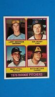 1976 TOPPS BASEBALL #593 ROOKIE PITCHERS LARRY ANDERSON NRMT