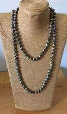 Fashion Long Knot Beads Halsband Leopard Skin Stone Necklace jewelry