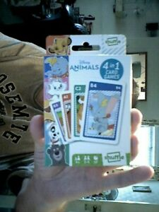DISNEY ANIMALS  4 IN 1 CARD GAMES  QUIZ FAMILY FRIENDS BIRTHDAY