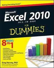 Excel 2010 All-in-One For Dummies Harvey, Greg