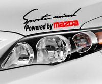 Sports mind Powered by Mazda decal hood or body decal. Car Window sticker.