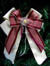 *Weihnachten*4/10*Weihnachtsschleifen*Christbaum*Deko*Schleifen~dunkelrot&gold~*
