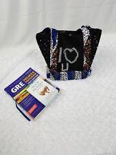 Handmade African Ankara Rhinstone I LUV U Gift Tote Bag Hand Bag Women Purse