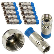 Sale 10pcs Tipo F Conector Macho Compresión para RG6 Coax Coaxial Tv Cable