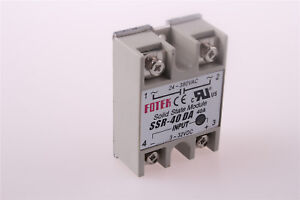 Solid State Relay DC-AC Metal Base 40A Output AC 24-380V SSR-40DA From US