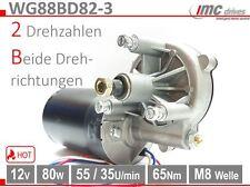 WG88BD82-3 Getriebemotor 88mm 12V 80W 60Nm 55/35U/min Kran Seilwinde Grill