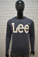 Maglia Blu Manica Lunga Uomo LEE Taglia Size M Polo Shirt Man Casual Camicia