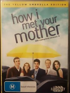 How I Met Your Mother DVD Complete Season 8  The Yellow Umbrella  3 disc set  R4