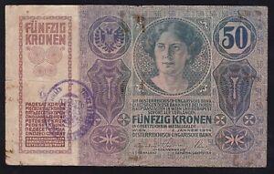 YUGOSLAVIA --- SHS---- 50 KRONEN  1914 ---- RARE  SEAL ----