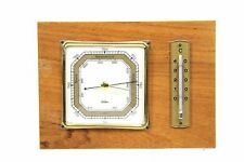 FISCHER Wandbarometer 18x13 cm Holzkorpus Wetterstation Thermometer Barometer