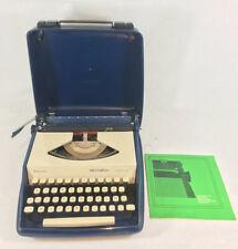 Machine à écrire Remington Envoy 3 Bleu et blanche vintage Entièrement révisée
