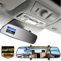 "Car Auto 1080P HD 2.7"" Rearview Mirror LCD Dash Cam DVR Camera Video Recording"