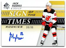 2019-20 SP Authentic Sign Of The Time Rookies - JACK HUGHES #SOTR-JH - 30/99