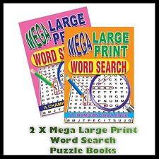 2 X A4 Mega Large Print Word Search Puzzle Book Books 258 Puzzles A4 Pages 1 & 2