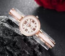Reloj de Pulsera señoras Mujeres Niñas a Cuarzo Analógico Blanco Dorado
