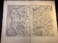 1587 MAP from THEATRUM ORBIS TERRARUM - Belgium - Abraham Ortelius
