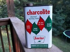 HTF Sinclair Charcolite Charcoal Starting Fluid Can Clean Can