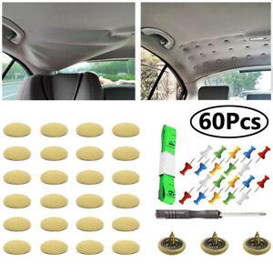60 pcs car Roof Liner Ceiling Repair Sagging Headliner fabric Buckle Pins Rivet