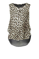 rag & bone Leopard Print Fleet Silk Top Size Large L