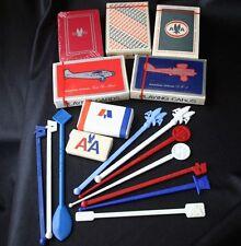 Vintage AMERICAN AIRLINES Memorabilia Cards Swizzle Lot