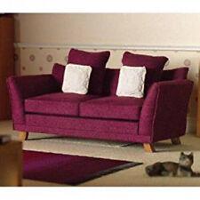 Dolls House Miniature 1:12th Scale Soft Plum Sofa