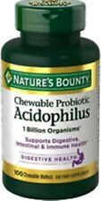 Nature's Bounty Acidophilus Probiotic 100 Chewable Wafers - Strawberry Flavor