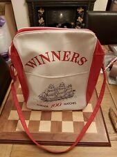 More details for vintage 1980's promotional advertising ships safety matches travel shoulder bag