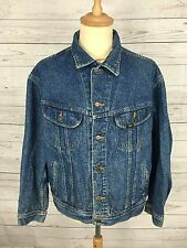 Mens Lee Retro Denim Jacket - XL - Navy Wash - Great Condition