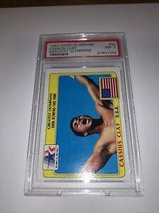 1983 Topps Olympians Cassius Clay MUHAMMAD ALI HOF RC Rookie #92 PSA 7 Card