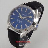 polisehd 39mm corgeut blue dial sapphire glass miyota Automatic mens Watch C132
