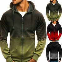 Mens Zip Up Hoodie Sweater Hooded Sweatshirt Coats Jacket Outwear Jumper Winter