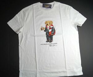POLO RALPH LAUREN Men's Big & Tall Polo Cocoa Bear Short Sleeve T-Shirt NEW NWT