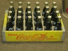 1960's COCA COLA WOOD CRATE + 24 FULL 8 OZ BOTTLES VERY RARE