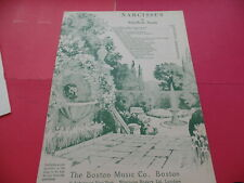 """Narcissus"" / Ethelbert Nevin / piano / sheet music / antique"