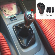 Universal Car 5 Speed Shift Gear Knob Manual Stick Shifter Lever Black&Red Line