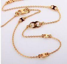 AUTHENTIC TORY BURCH Gemini Link Convertible Necklace W/ TB jewelry Pouch-NEW!