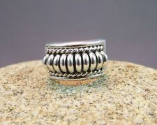 Vintage Native American Sterling Silver Ring by Tommie Charlie, Navajo
