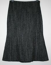 *HOBBS* GORGEOUS 52% WOOL HERRINGBONE TWEED LINED SKIRT SIZE 14 WORN ONCE