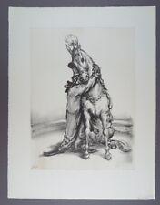 A. Paul Weber In der Manege Lithographie 1960 handsigniert
