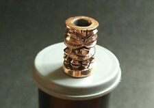 "Collectible Bead Bronze ""Tiki Fatboy"" Knife Paracord Lanyard Handmade"
