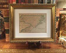 Custom Framed Original 1908 Antique Map NORTH CAROLINA Fine Adornment of History