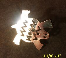 STERLING SILVER LAPEL PIN TURTLE GLYPH JEFF LOW DESIGN SOLID STERLING SILVER